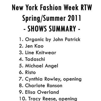 New York Fashion Week RWT S/S 2011 Show Summary - Emilia Nawarecka